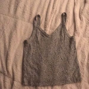 Ribbed Knitted Croptop